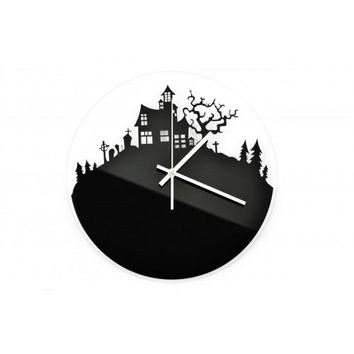 Zegar Ścienny Akrylowy Halloween Czarny