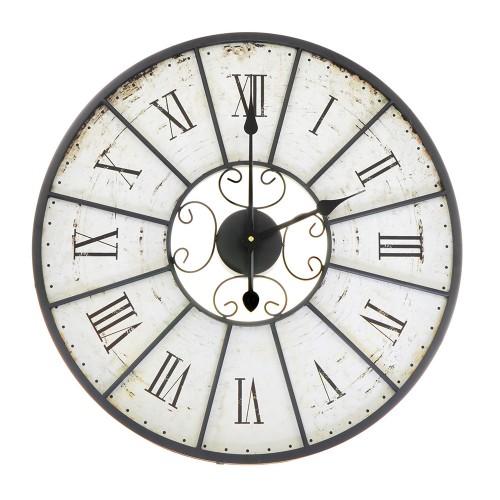 Stalowy Zegar Ścienny 60 cm Odcienie Grafitu
