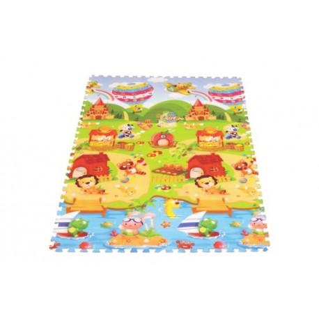 Puzzle Piankowe Dla Dzieci 180 x 120 x 0,9 Mata Edukacyjna