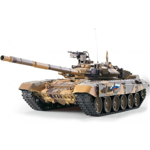 Duży Czołg T-90 3938-1 Skala 1/16 Kulki Dym BBS
