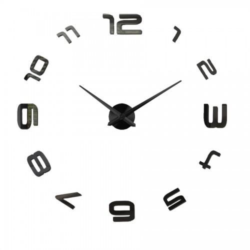 Nowoczesny Zegar Ścienny 65-120 cm Wzór Okrężny Czarny