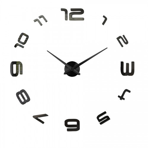 Zegar Diy Cyfry okrężne Czarne