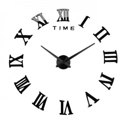 Nowoczesny Zegar Ścienny 65-120 cm Wzór Rzymski Czarny