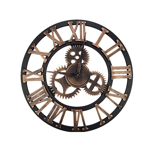 Zegar Zębatka Rzymska 50 cm Styl Retro