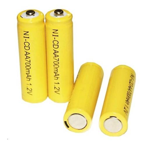 Akumulator bateria NICD 700 mah 1,2 V AA paluszek