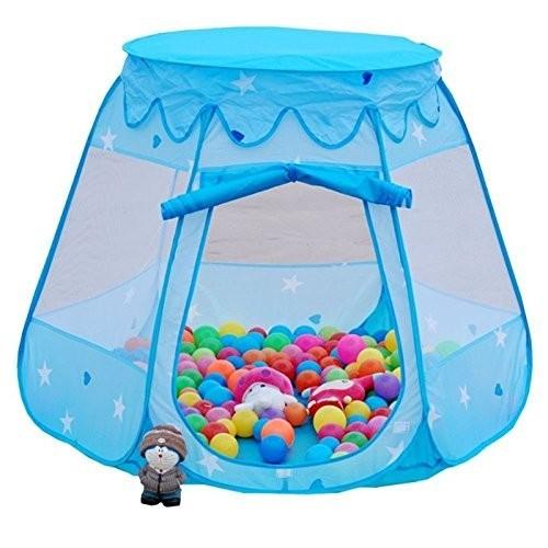Namiot dla dzieci domek suchy basen 200 piłeczek niebieski