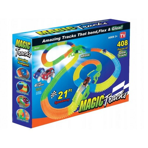 Magic tracks tor 408 elementów 630 cm duży zestaw