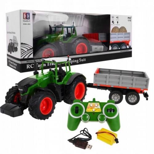 Traktor z przyczepą RC skala 1:16