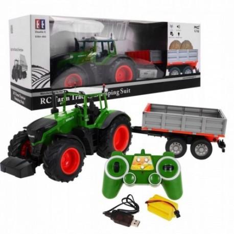 Traktor z przyczepą RC skala 1:16 ciągnik