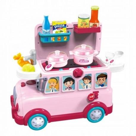 Samochód jeździk 3w1 kuchenka zestaw kuchenny