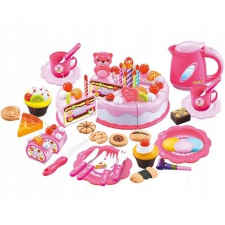 Tort zestaw urodzinowy 80 elementów dla dzieewczynki