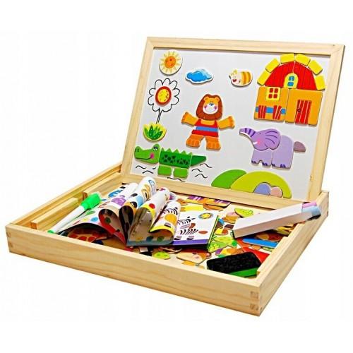 Tablica magnetyczna do rysowania edukacyjna puzzle