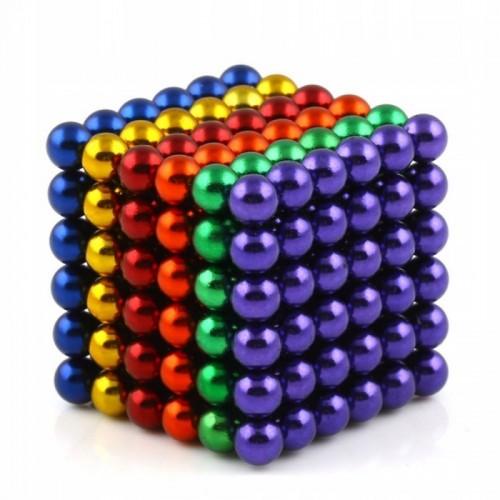 Neocube kulki magnetyczne kolorowe 5 mm tęcza 216 sztuk