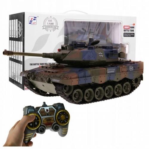 Czołg zdalnie sterowany Panther RC strzela dymi + tarcza
