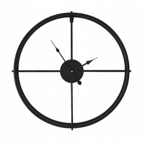 Metalowy zegar ścienny 50 CM Czarny loft Vintage
