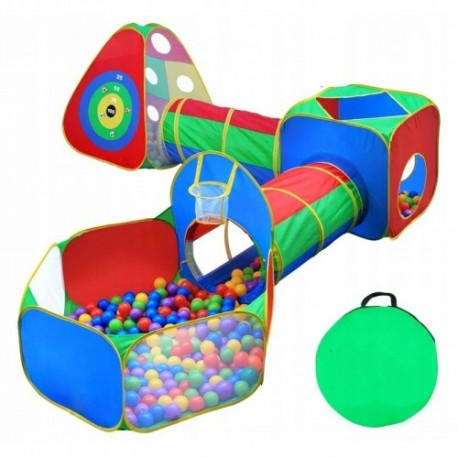 Namiot dla dzieci z tunlami 5w1 + tarcza