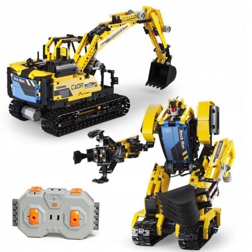 Koparka Robot 2w1 z klocków technic sterowane rc
