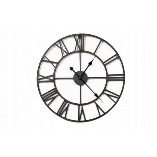 Duży metalowy zegar ścienny 60 cm z cichym mechanizmem