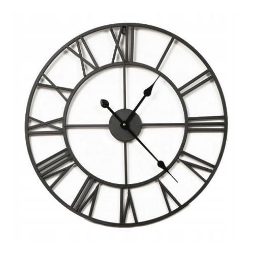 Duży metalowy zegar ścienny 80 cm z cichym mechanizmem