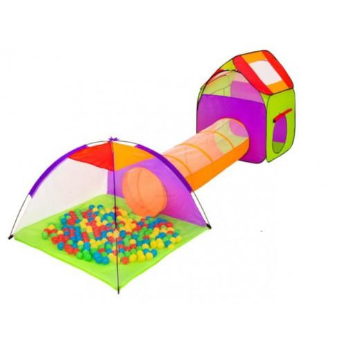 Namiot dla dzieci z tunelem 3w1 kojec suchy basen