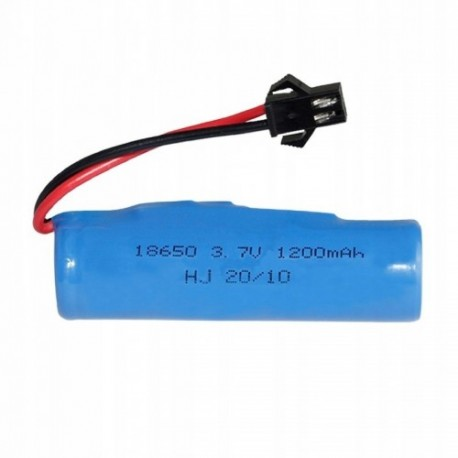 Akumulator do 1200 mah 3,7 v ogniwo wtyczka sm