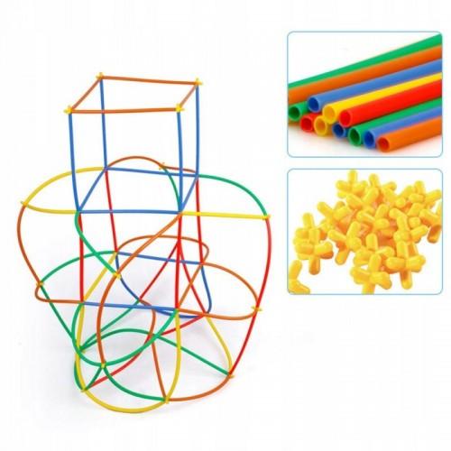 Słomki konstrukcyjne patyczki 1000 elementów klocki