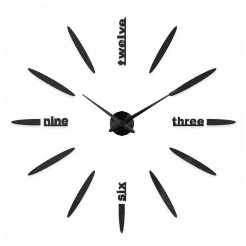 Nowoczesny Zegar Ścienny 65-120 cm Wzór Delta Czarna