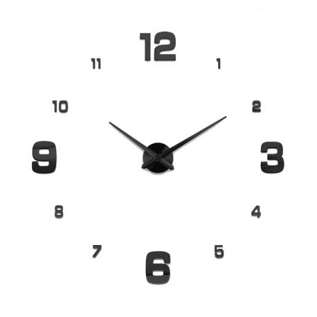 Nowoczesny Zegar Ścienny 65-120 cm Wzór Cyfry Czarne